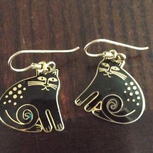 "Vtg 80s Laurel Burch ""Keshire Cats"" earrings"